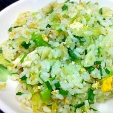 レタスと浅葱の卵チャーハン