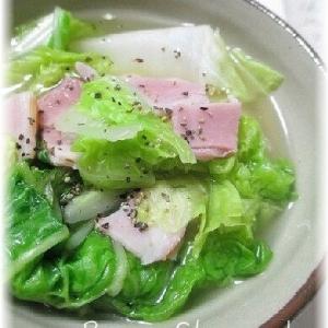 超簡単!白菜とベーコンの蒸し煮