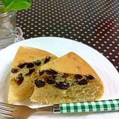 自家製HM使用☆炊飯器で簡単レーズンケーキ