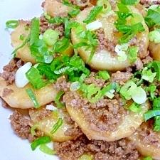 長芋の甘辛ひき肉炒め