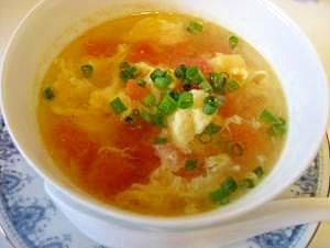 10分でできる!トマトと卵の中華スープ★