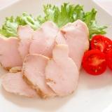 ポリ袋調理で鶏ハムカレー風味