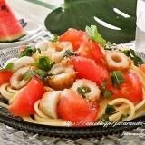 トマトと梅の爽やか冷製パスタ