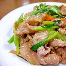 豚こま肉と野菜の炒めもの