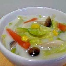 春キャベツのミルクスープ