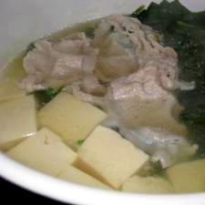 """*""""常夜鍋・・・ほうれん草と豚肉と豆腐で簡単に❤"""