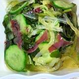 海藻ミックスと胡瓜の酢の物