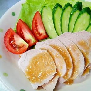 茹で豚のサラダ風☆塩麹わさびドレッシング