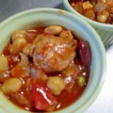 豚肉と豆のトマト煮