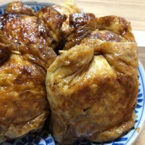 鶏むね肉と豆腐でヘルシーに☆油揚げの包み煮