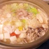 昆布出汁の簡単鍋-簡単・男の料理