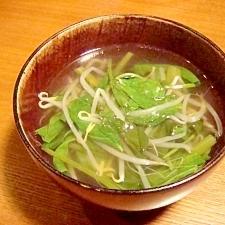 空芯菜の中華スープ