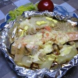 秋の香り漂う「鮭のホイル焼き」献立