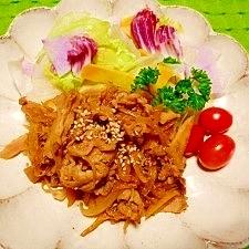 減塩☆豚肉の舞茸蒸し炒め