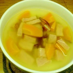 ロースハムとにんじんのスープ