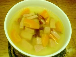 ロースハムと人参のスープ