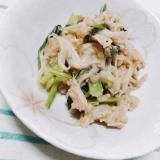 小松菜とえのきの和風マヨソテー