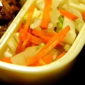 白菜とにんじんの柚子胡椒和え