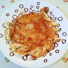 パンの耳とチーズでチーズガレット風