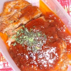 豚肉のケチャップソース