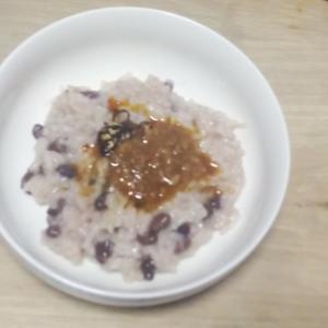 醤油麹&食べるラー油のおかゆ♡