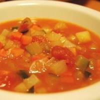 野菜たっぷりのトマトコンソメスープ