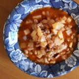ミックスビーンズとツナと野菜のケチャップ煮