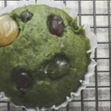 HMで簡単☆ カラフル甘納豆の抹茶マフィン