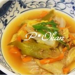 白菜とツナ缶の煮物