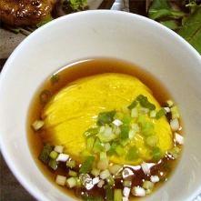 簡単本格和食。彩り綺麗なかぼちゃ豆腐。