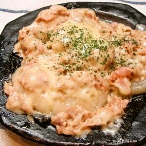 シーチキン&マヨでチーズ餅♪