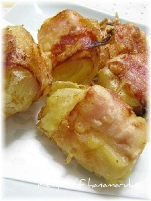 玉ねぎのベーコン巻き天ぷら