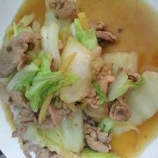白菜と豚肉としょうがのポカポカ炒め☆彡