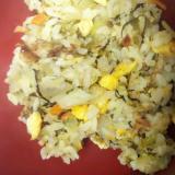 シンプルチャーハン・高菜と岩塩で