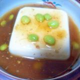 豆腐の枝豆あん