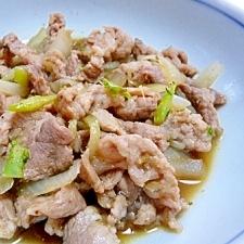 大根の葉と豚肉の甘辛煮
