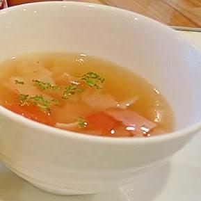 簡単!レンジで美味しい コンソメスープ♪