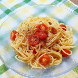 黒胡椒パンチ!プチトマトペペロンチーノ