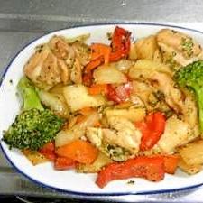 ビタミンカラー&シンプル 鶏肉オリーブオイル炒め
