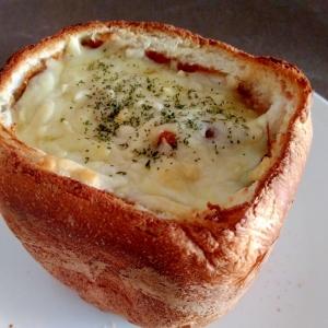 食パンで☆ビーフシチューパングラタン