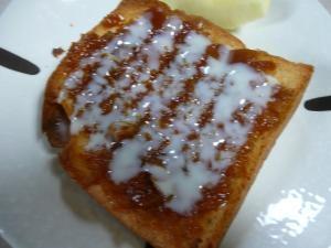 手作りきんかんジャムと練乳トースト