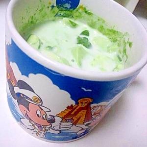 ドロリッチ風☆抹茶プリンミルク