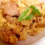 筍と卵と豚肉の中華炒め