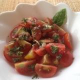 プチトマトのバジルサラダ♪