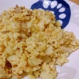 シンプルカレー炒飯!?焼そばの粉末ソース活用レシピ