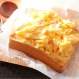 子供達用★スクランブルハムエッグチーズトースト