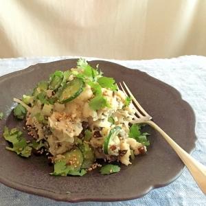 ピータン(皮蛋)の中華風ポテトサラダ
