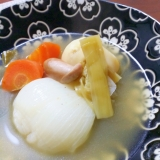 野菜の旨味たっぷり☆葉玉ねぎのまるごとポトフ