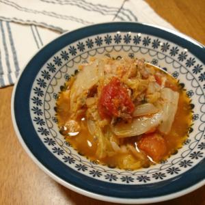サバ缶と白菜のトマト煮