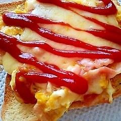 チーズベーコンエッグのトースト
